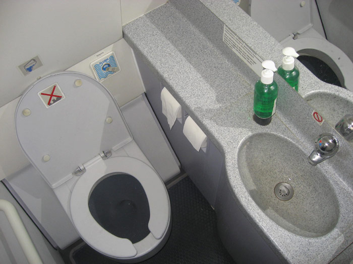 Туалет Эрбас А-320 Аэрофлота