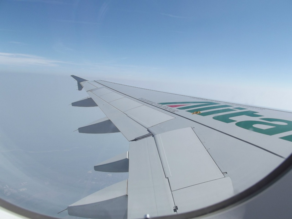 Turin to Rome flight by Alitalia