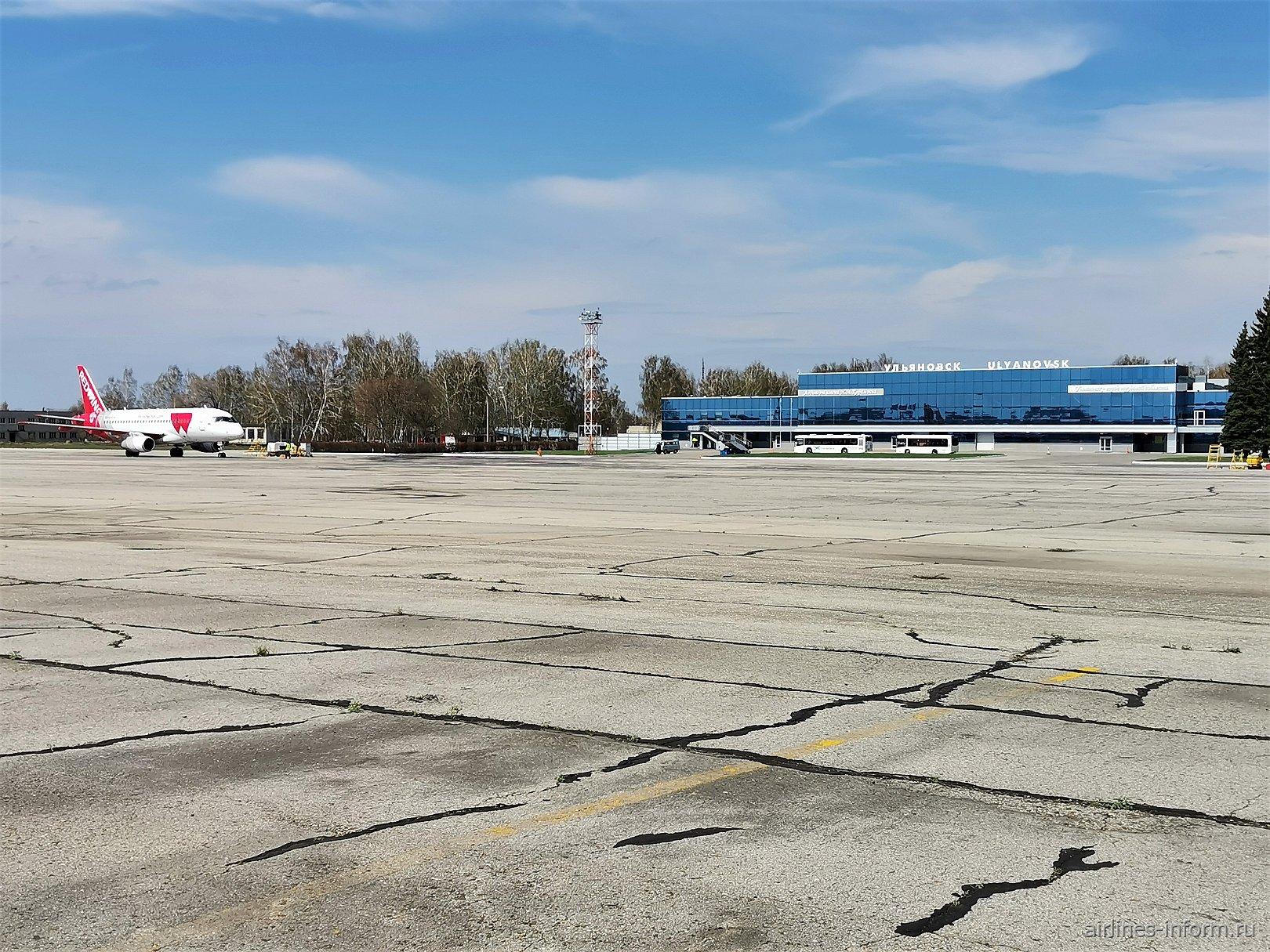 Перрон аэропорта Ульяновск Баратаевка