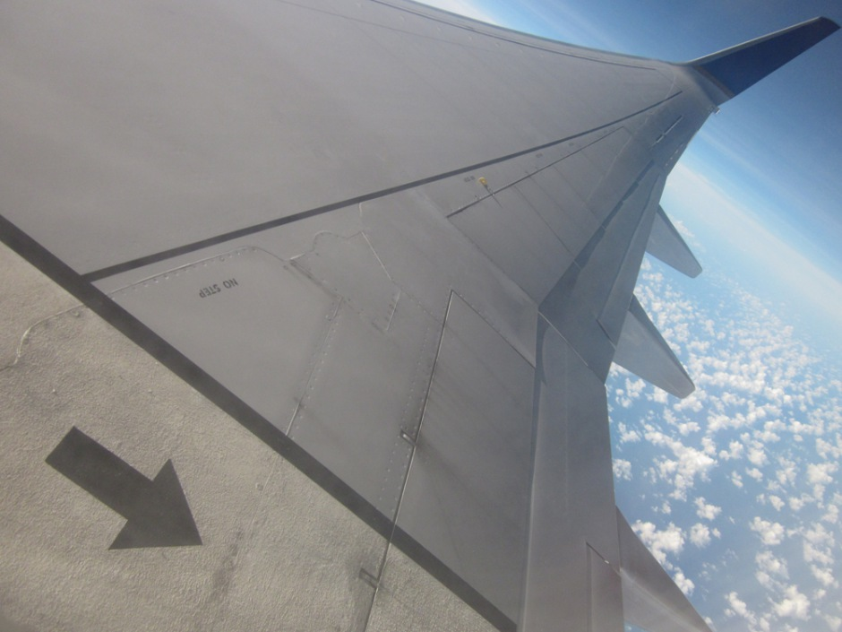 Take-off of Boeing 737-800
