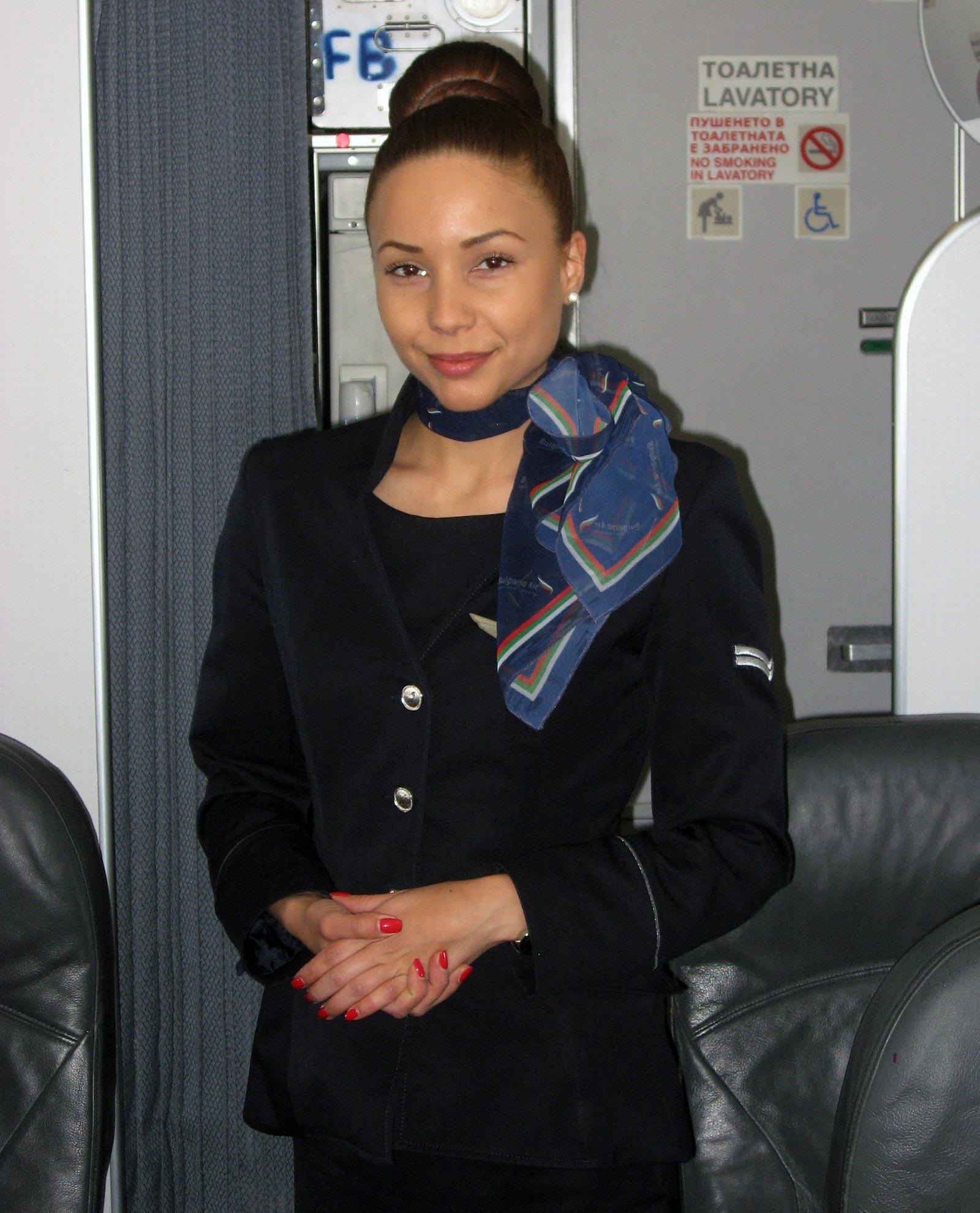 Bulgaria Air cabin attendant