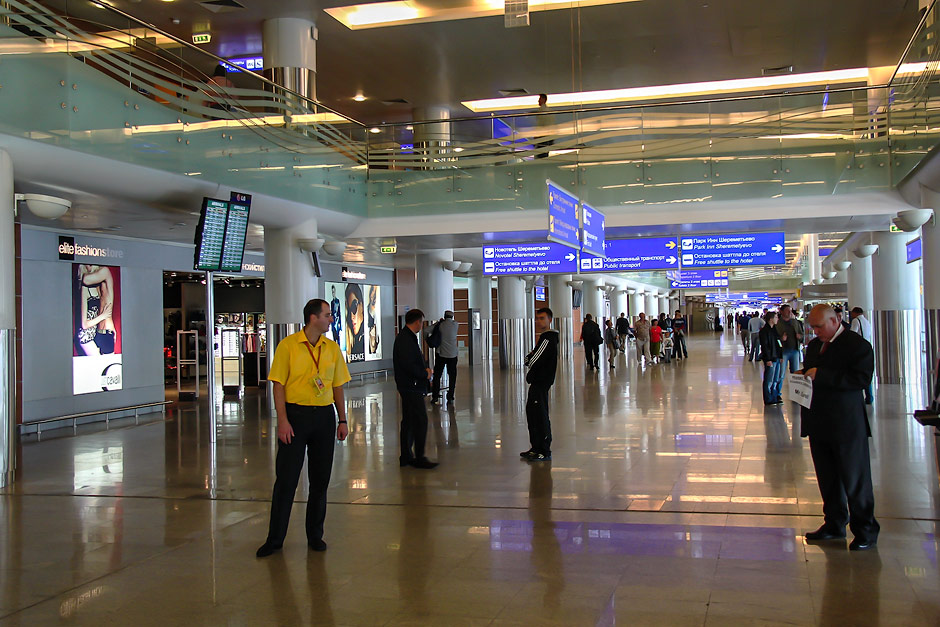 Terminal D in Moscow Sheremetyevo airport