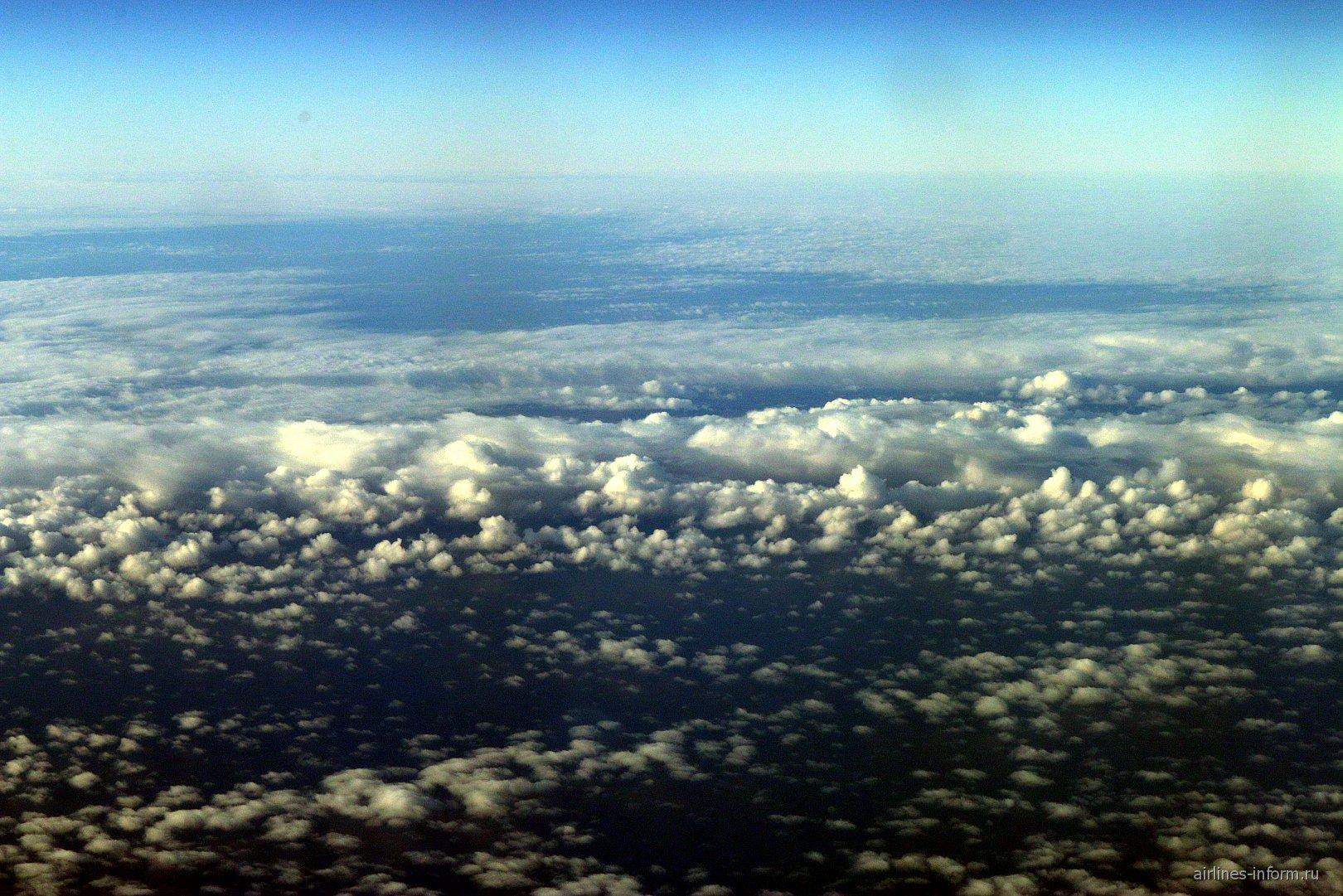 Облака над Карелией во время рейса Мурманск-Москва