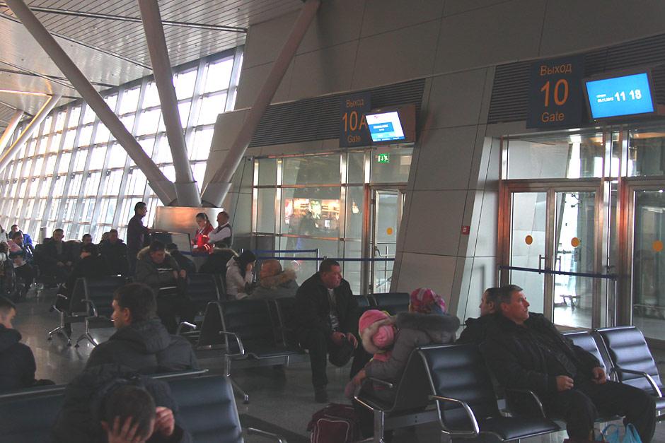 Зал ожидания в аэропорту Внуково