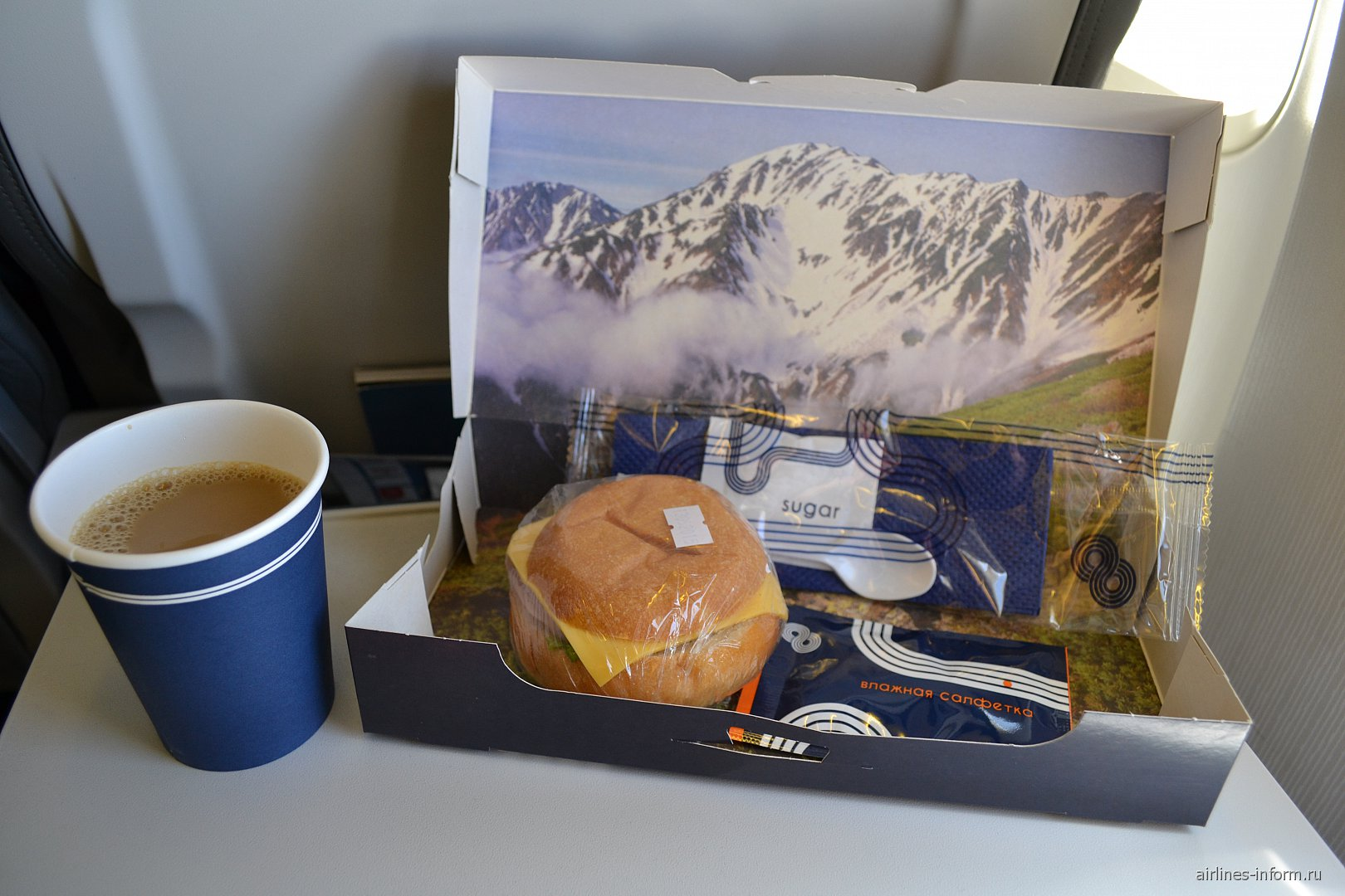 """Питание на рейсе Владивосток-Хабаровск авиакомпании """"Аврора"""""""