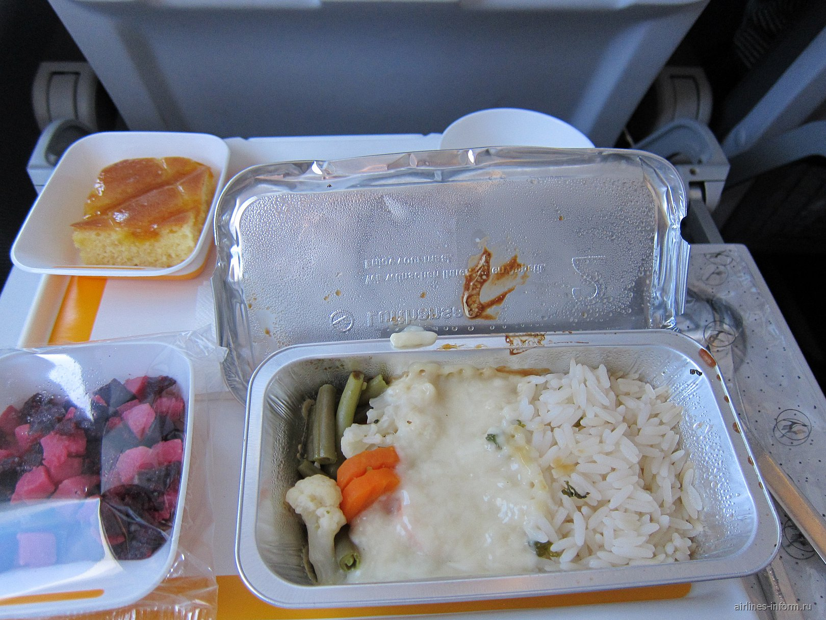 Питание на рейсе Москва-Франкфурт авиакомпании Люфтганза