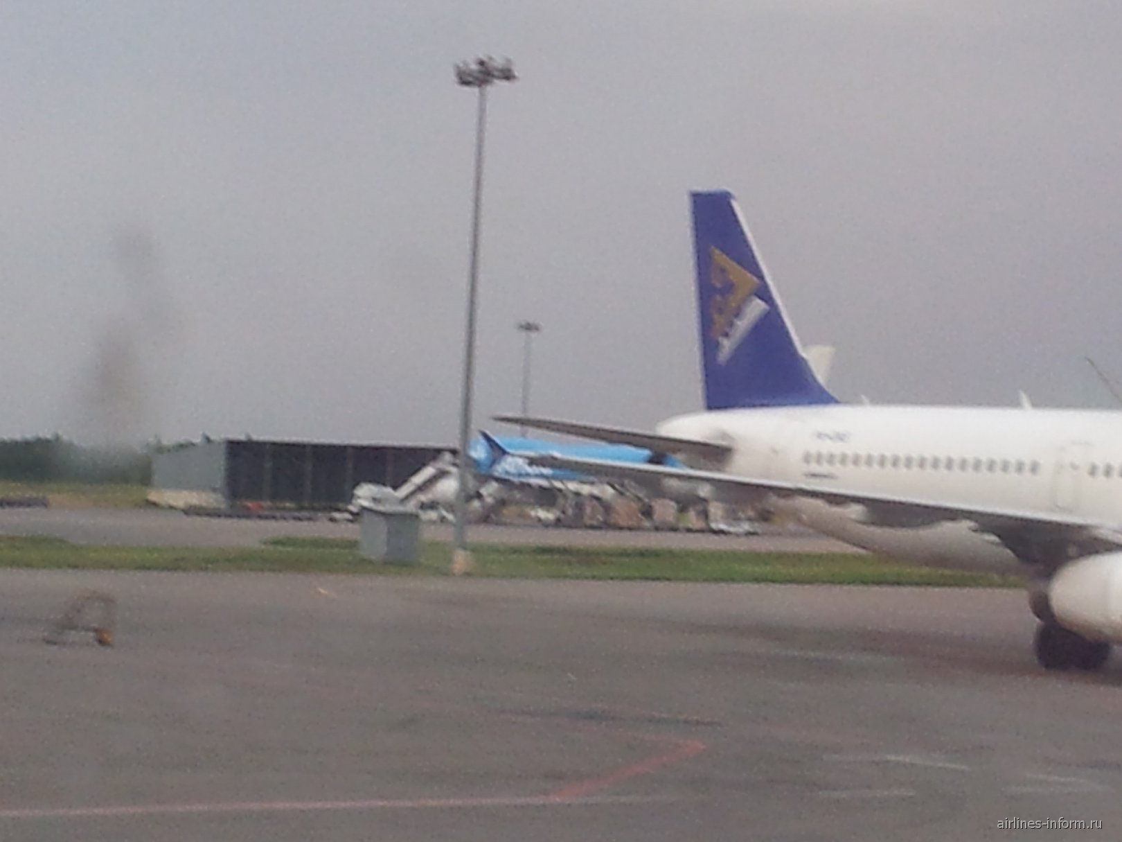 Airbus A320 Air Astana в аэропорту Алматы