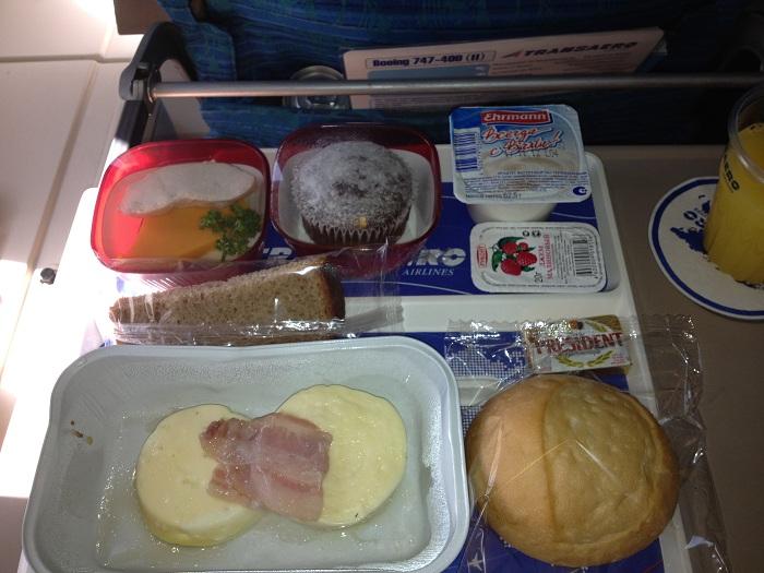 Питание на рейсе авиакомпании Трансаэро Москва-Родос