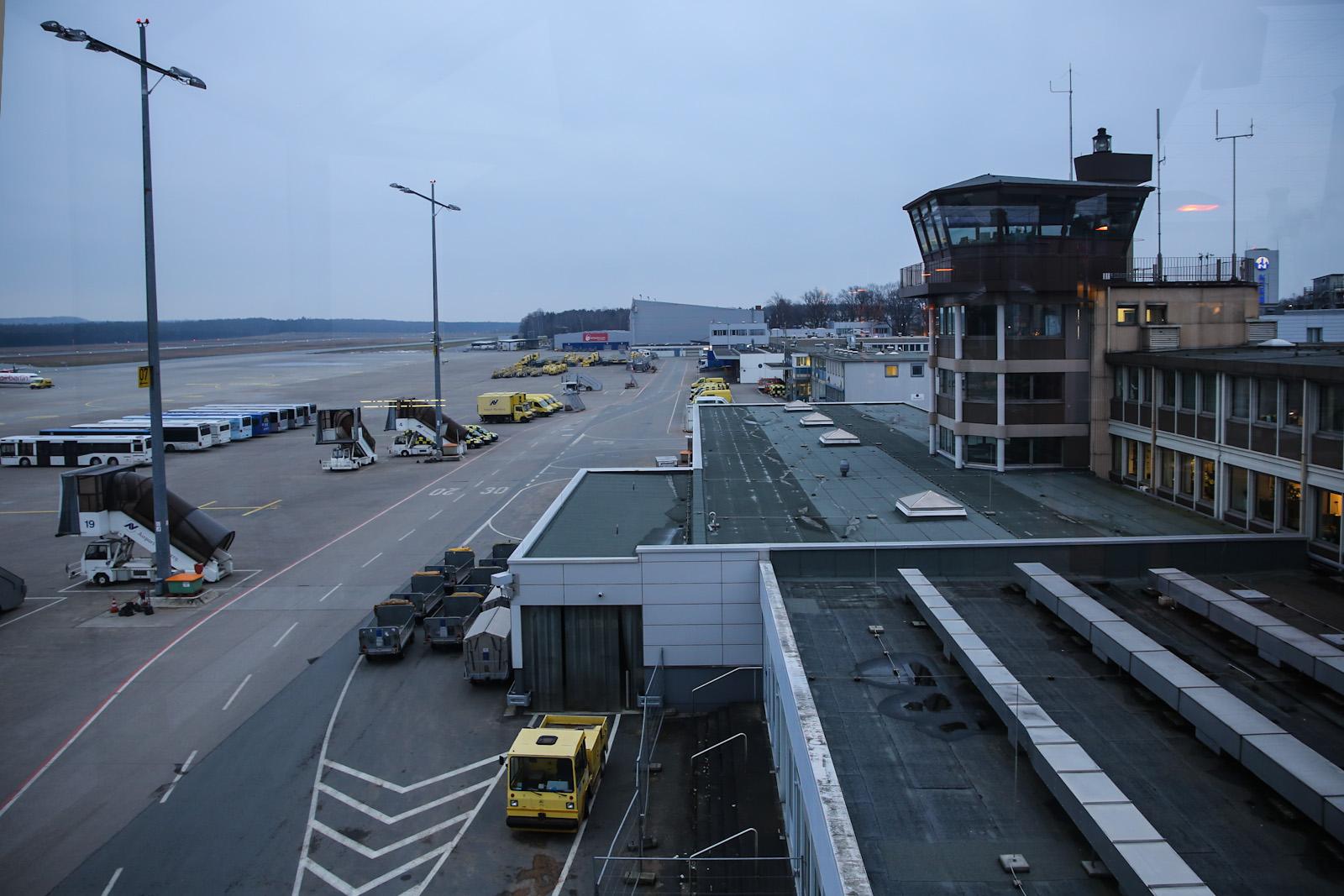 Диспетчерская вышка в аэропорту Нюрнберг