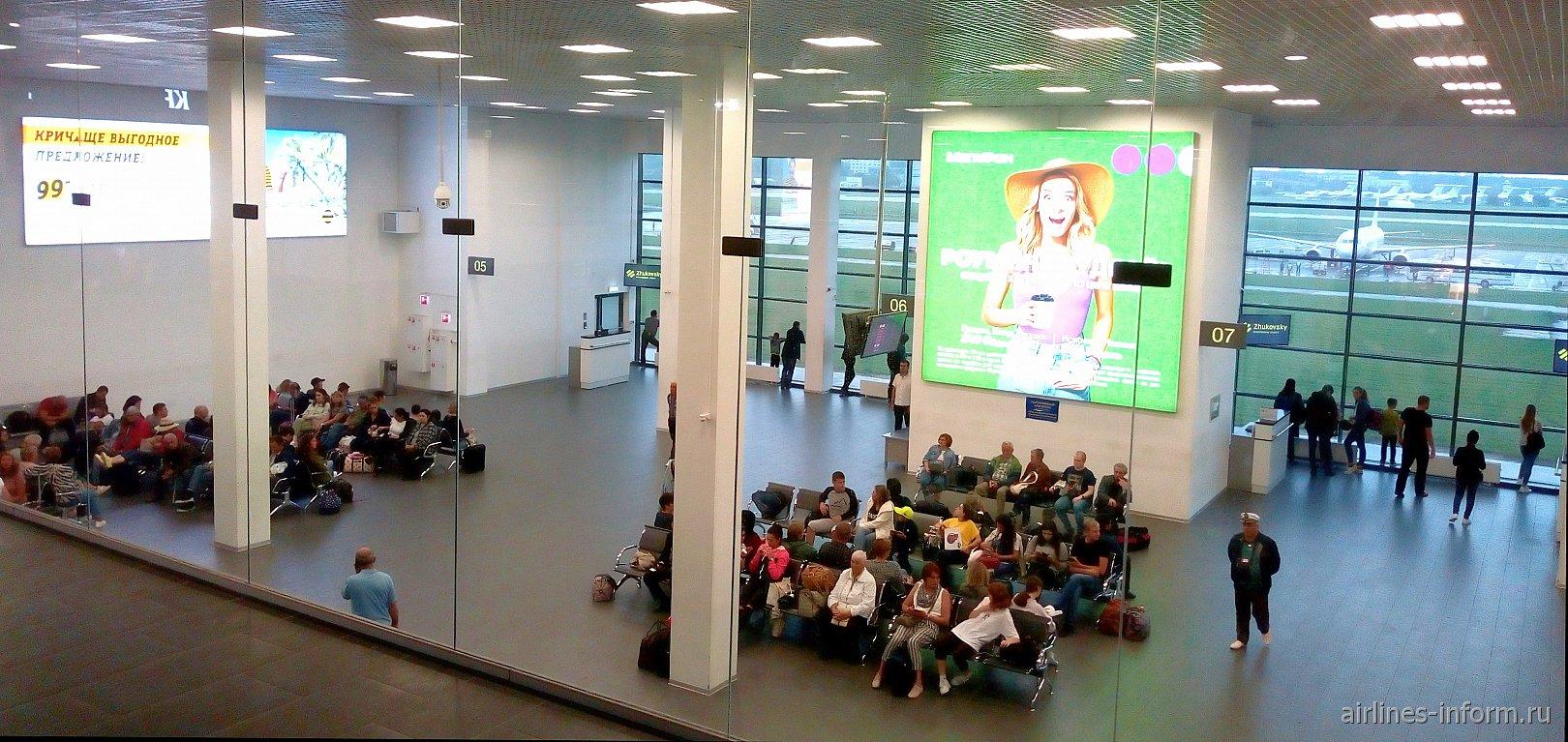 Зона вылета в аэропорту Жуковский