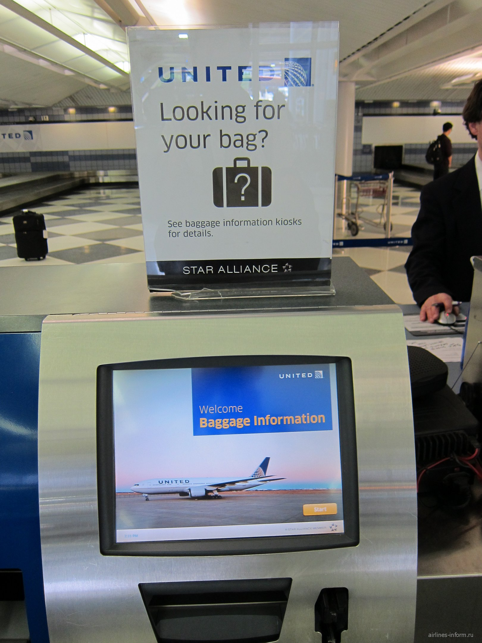 Стойки регистрации авиакомпании United