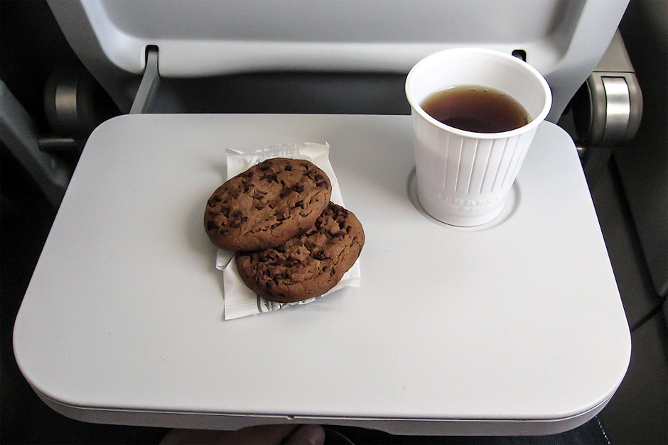 Board meal on a Marseille-Moscow flight
