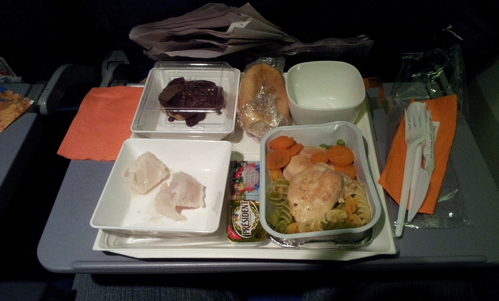 Питание на рейсе Аэрофлота Гавана-Москва