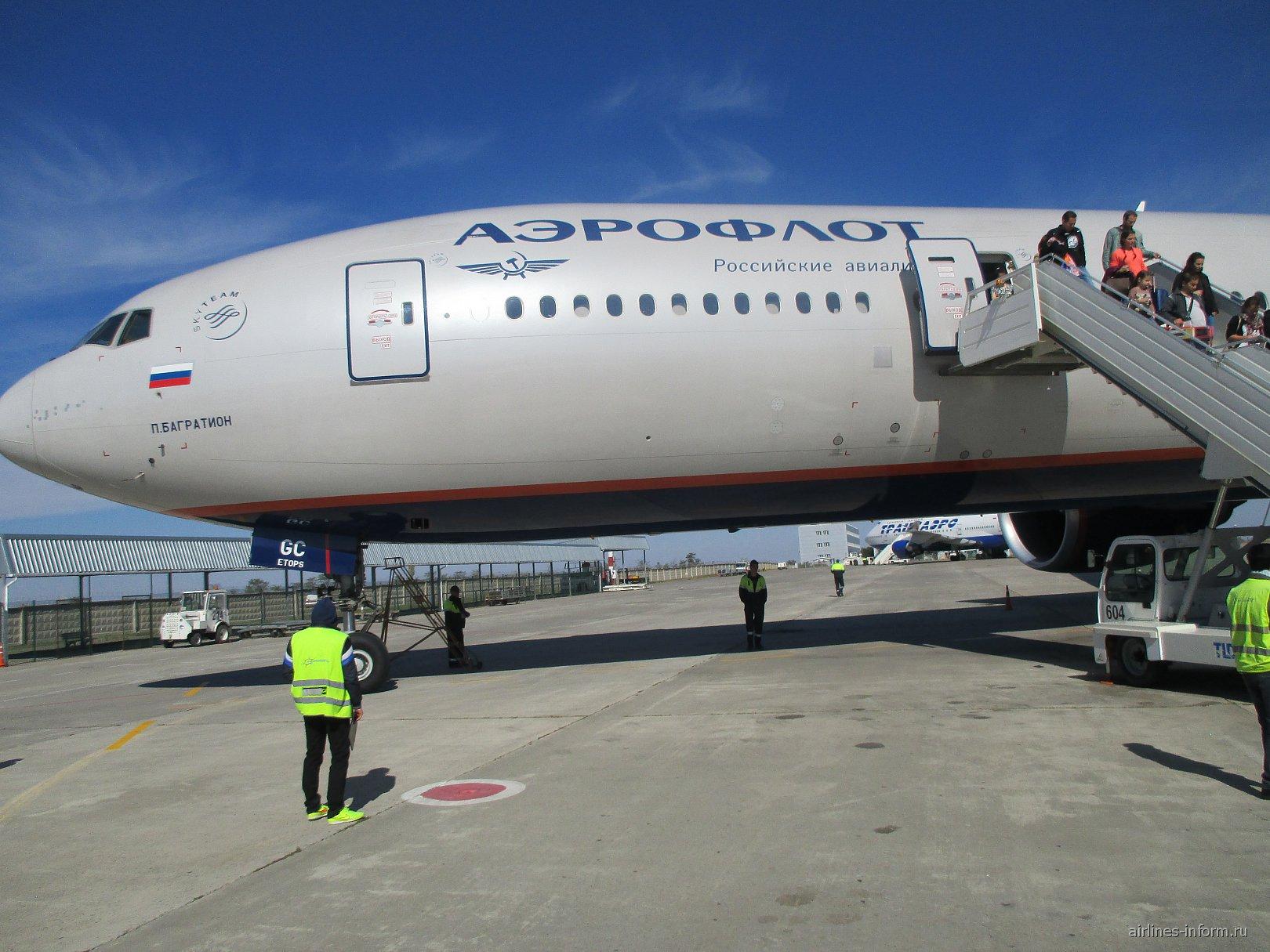 Москва-Симферополь на Боинг 777-300er Аэрофлот