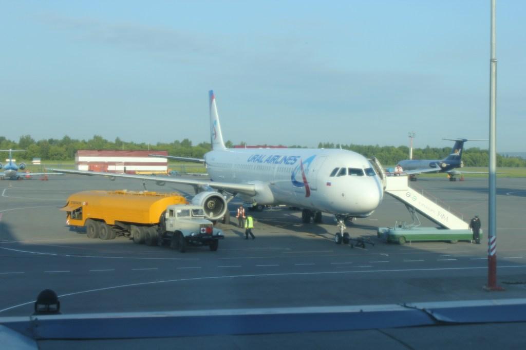 А321 Уральских авиалиний в аэропорту Уфа