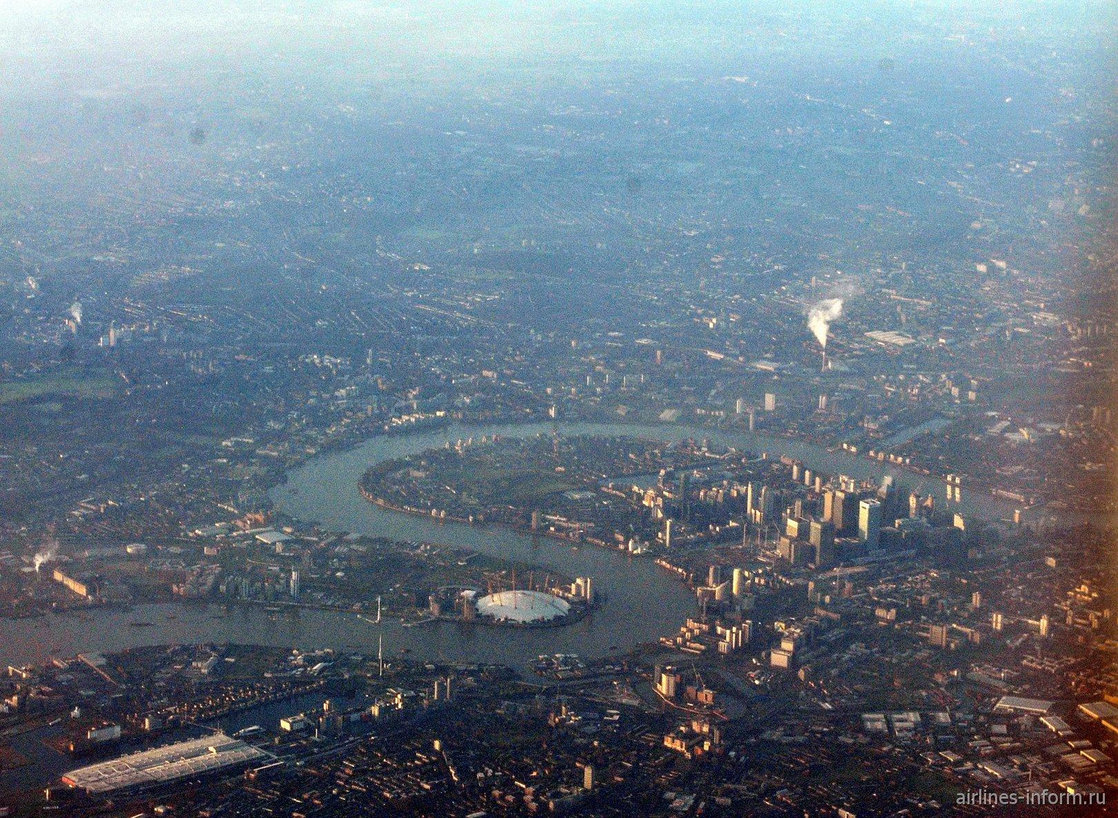 Арена О2 и Собачий остров в Лондоне