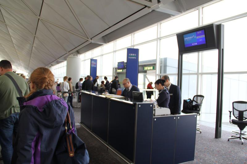 Посадка на рейс Аэрофлота Гонконг-Москва