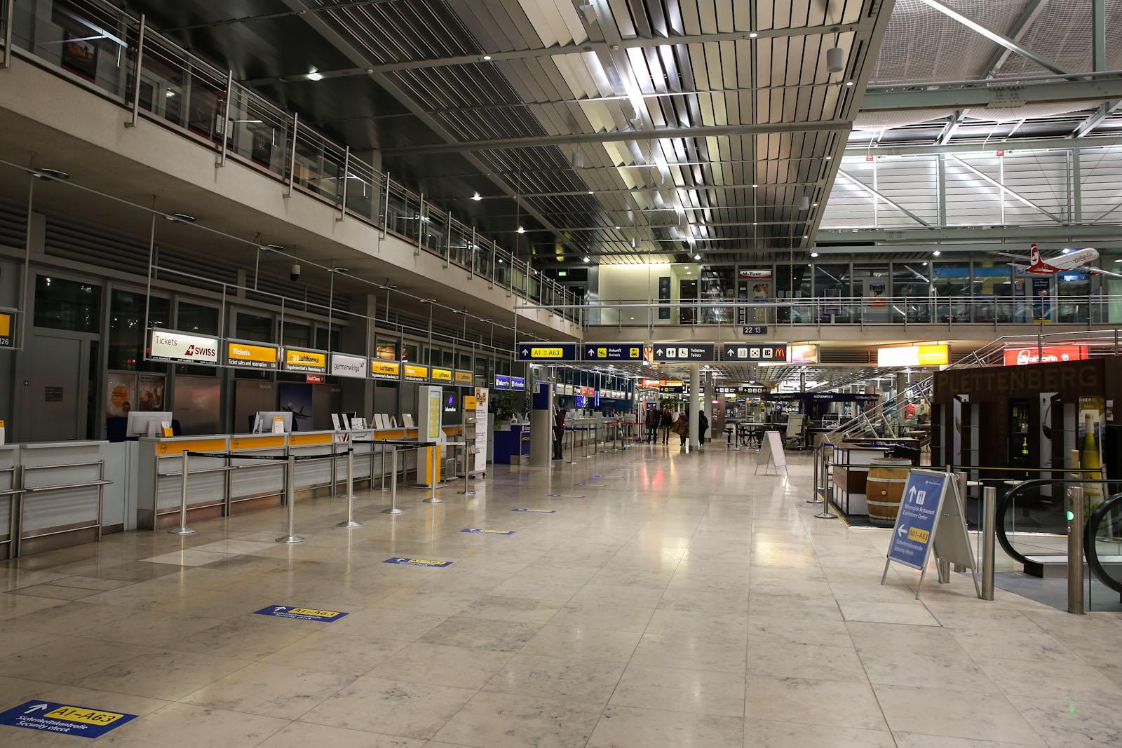 В пассажирском терминале аэропорта Нюрнберг