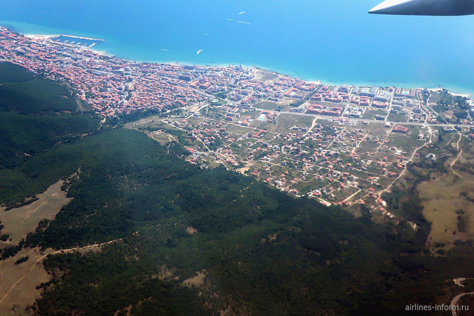 Поселок Свети-Влас на черноморском побережье Болгарии