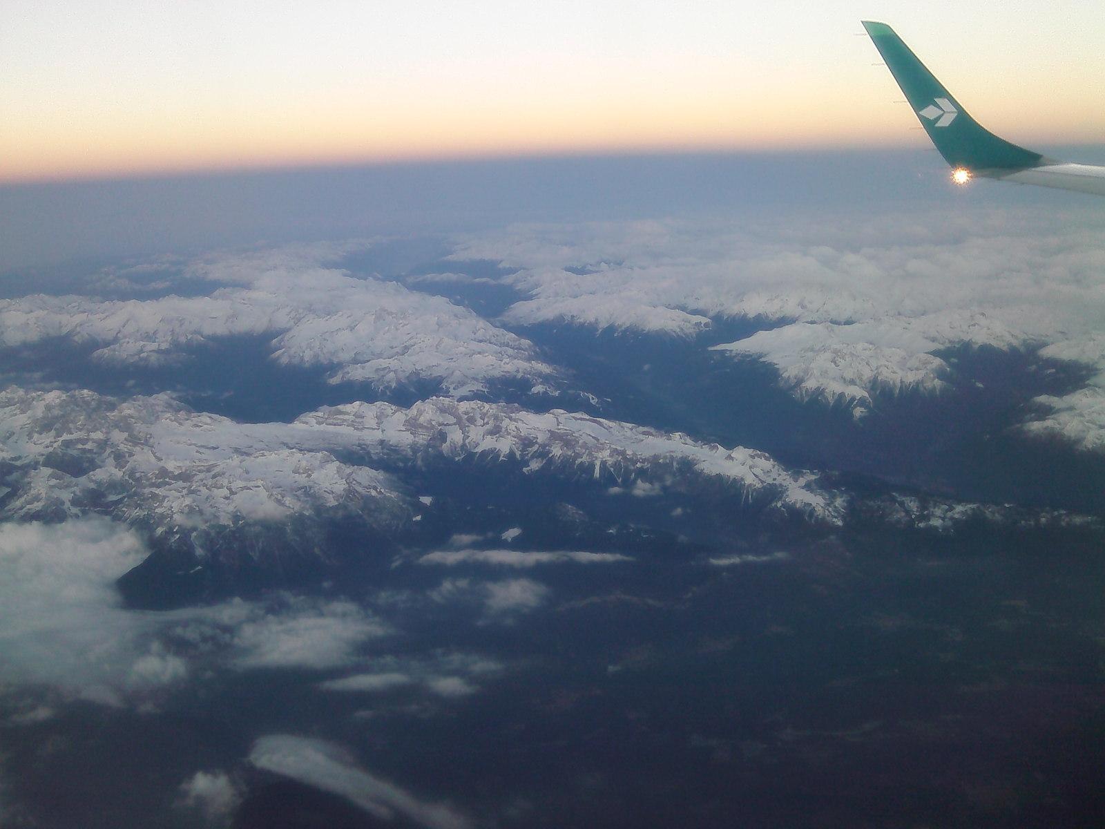 В полете над Альпами