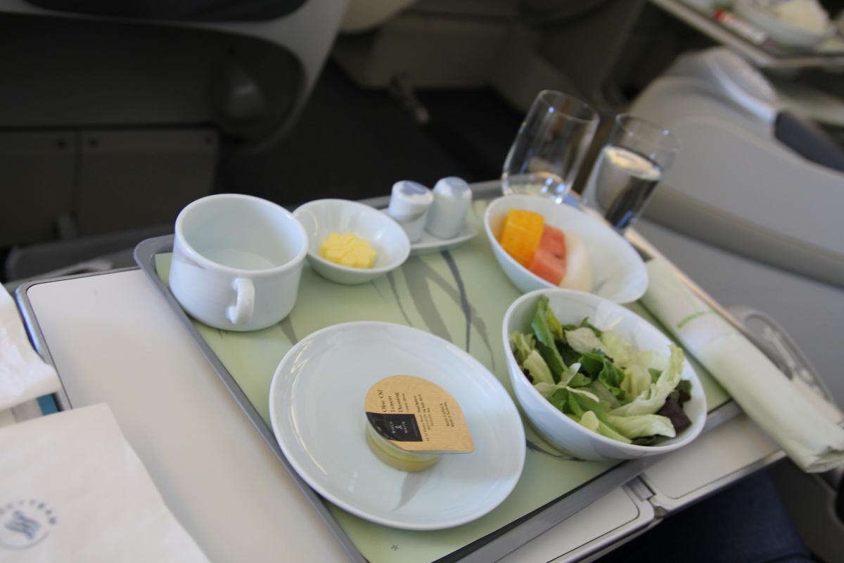 Питание в бизнес-классе Korean Air