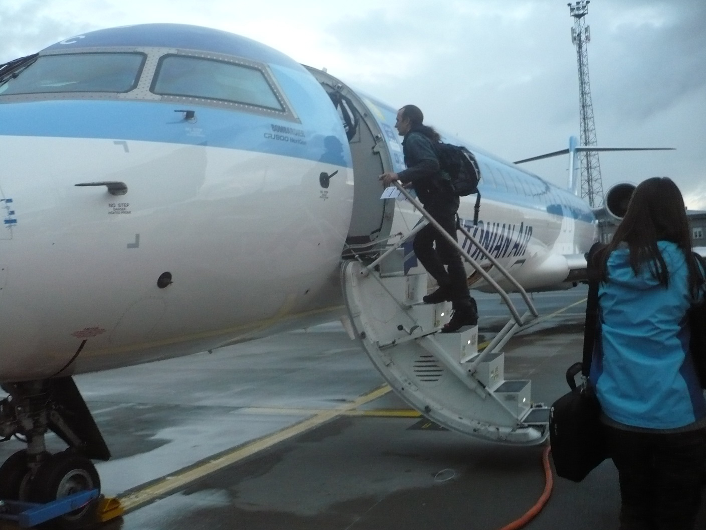 Посадка на рейс Estonian Air Таллинн-Амстердам