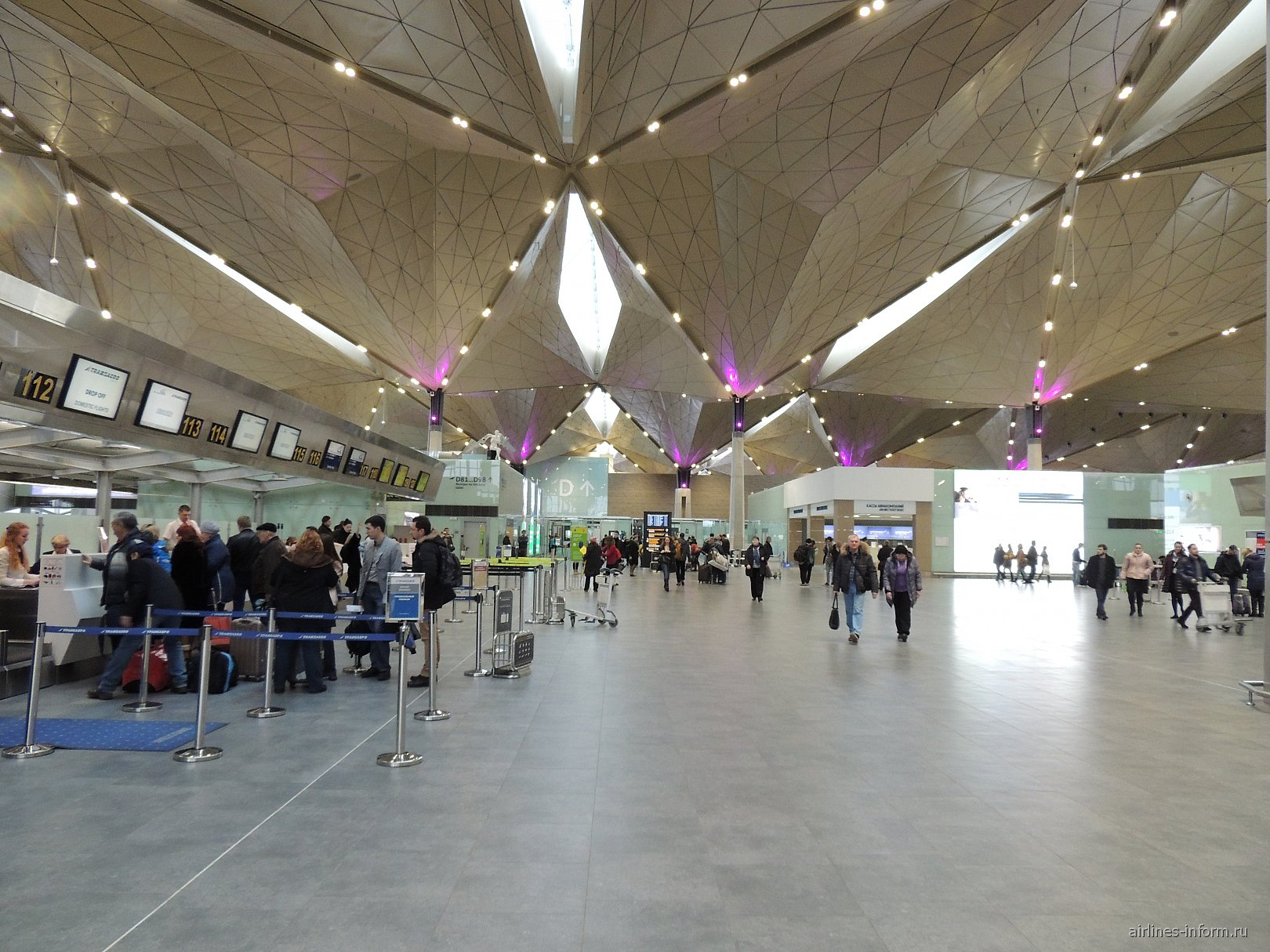 Сектор D зоны внутренних вылетов аэропорта Санкт-Петербург Пулково