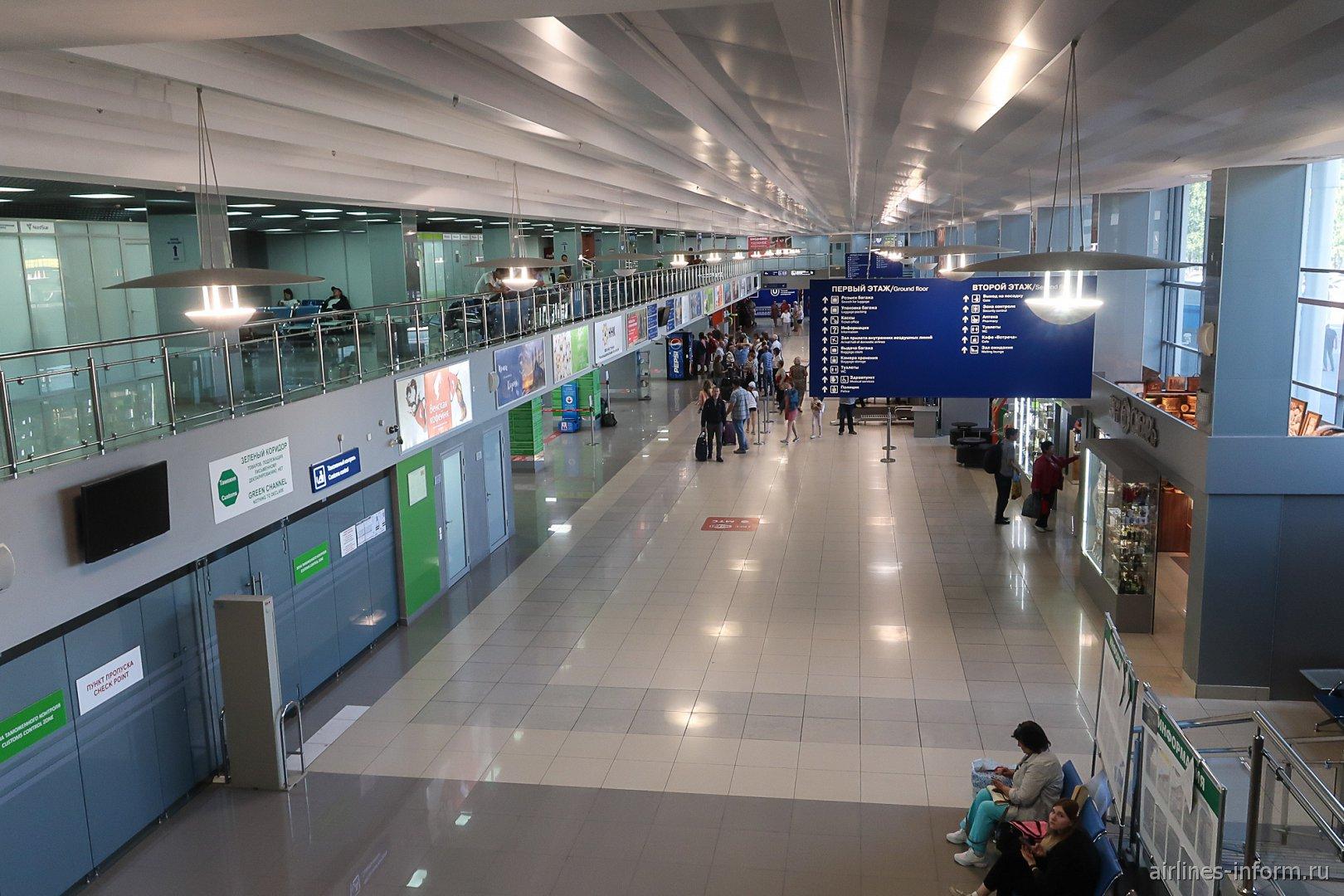 Общая зона пассажирского терминала Томского аэропорта