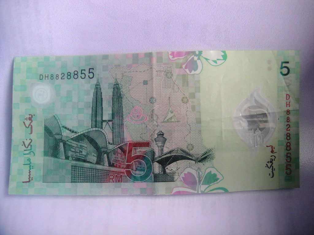 Malaysian 5-Ringgit bill