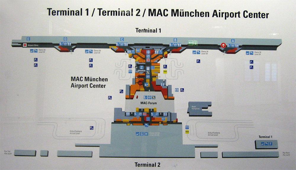 Munich Airport terminal map
