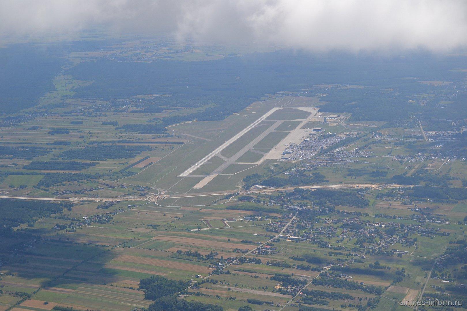 Вид сверху на аэропорт Катовице