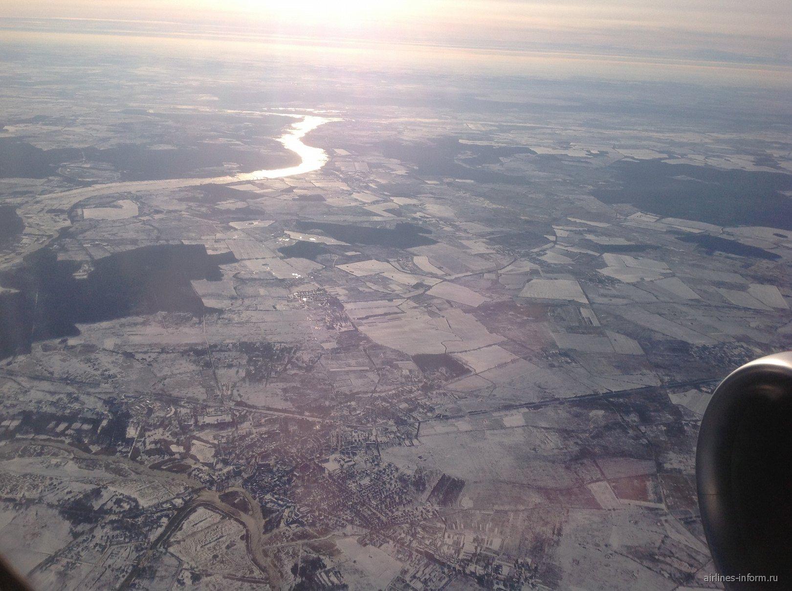 При взлете из Калининграда