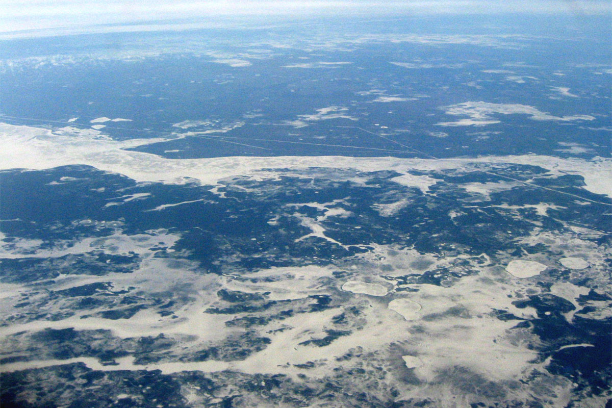 Flying over Siberia