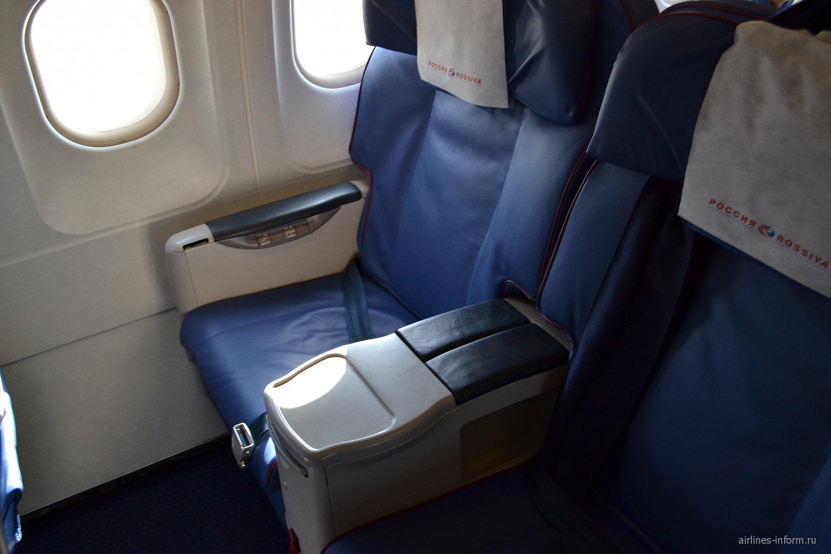 Кресла бизнес-класса самолета Airbus A319 авиакомпании
