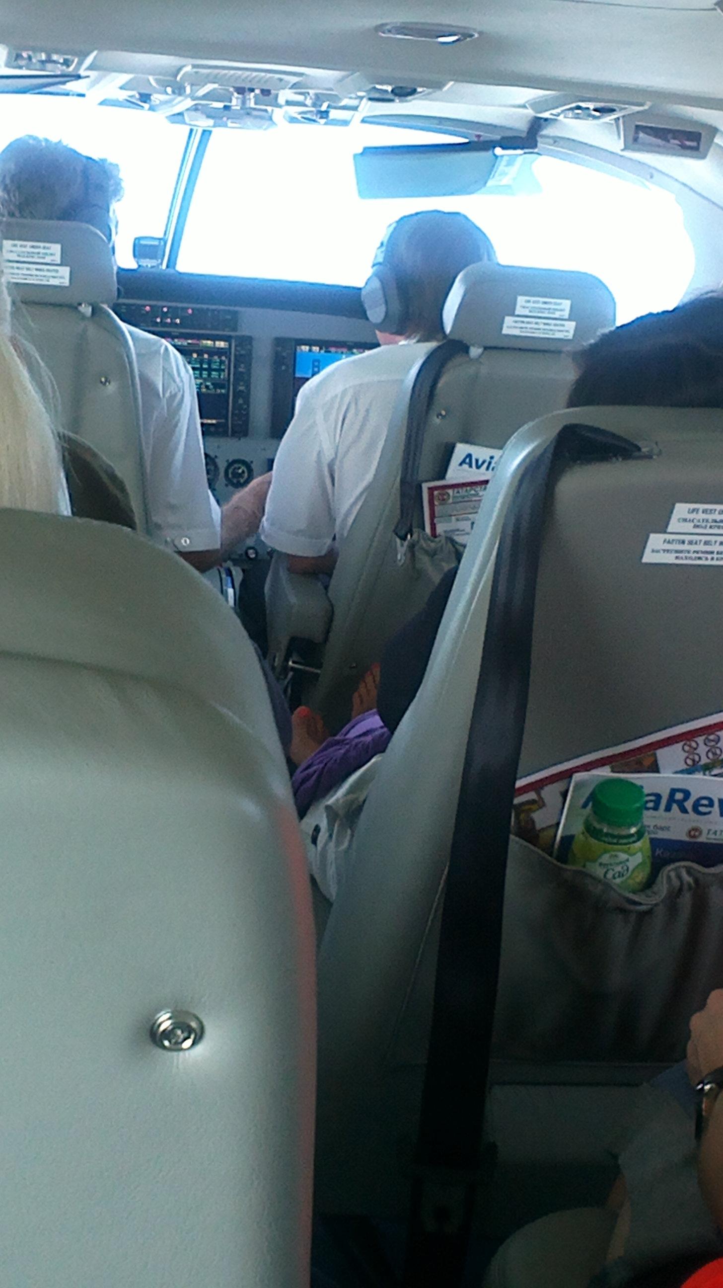Кабина пилотов в самолете Cessna Grand Caravan авиакомпании Татарстан