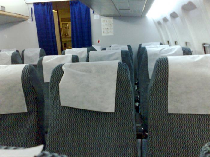 Салон самолета ту-204-100 Кавминводыавиа