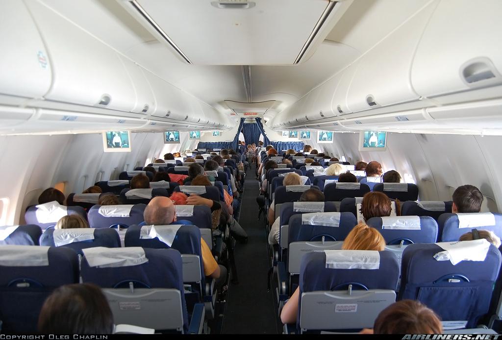 Салон самолета Боинг-737-800 авиакомпании Трансаэро