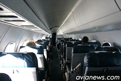 Салон самолета ERJ-145 Днеправиа