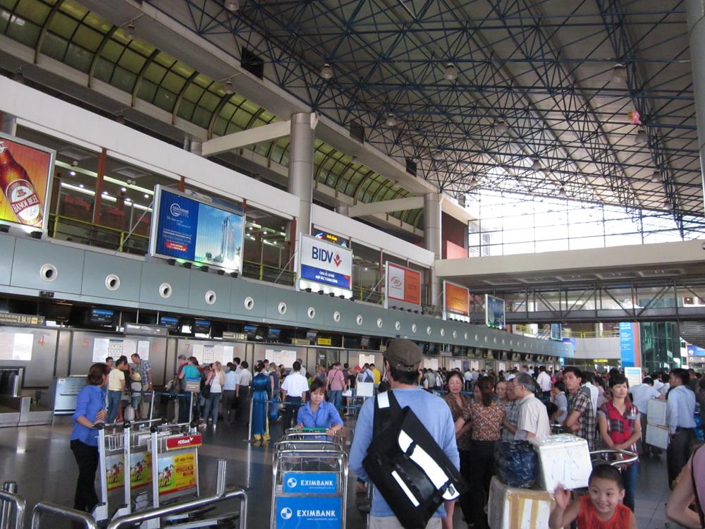 Стойки регистрации в аэропорту Ханой Ной Бай