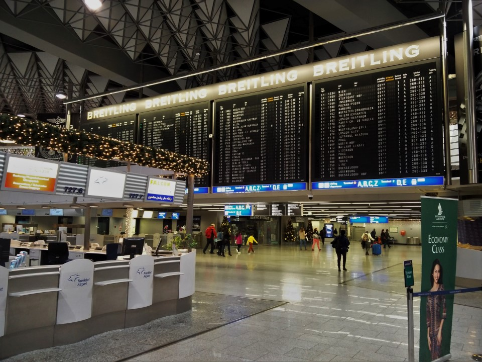В терминале 1 аэропорта Франкфурт