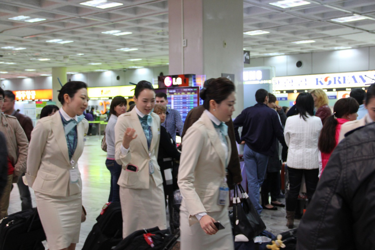 Korean Air cabin attendants