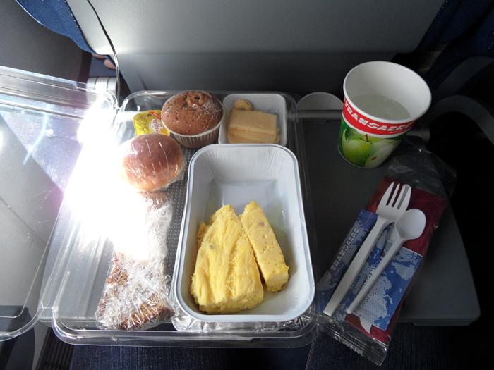 Питание на рейсе Рейс Петропавловск-Камчатский - Москва авиакомпании Трансаэро