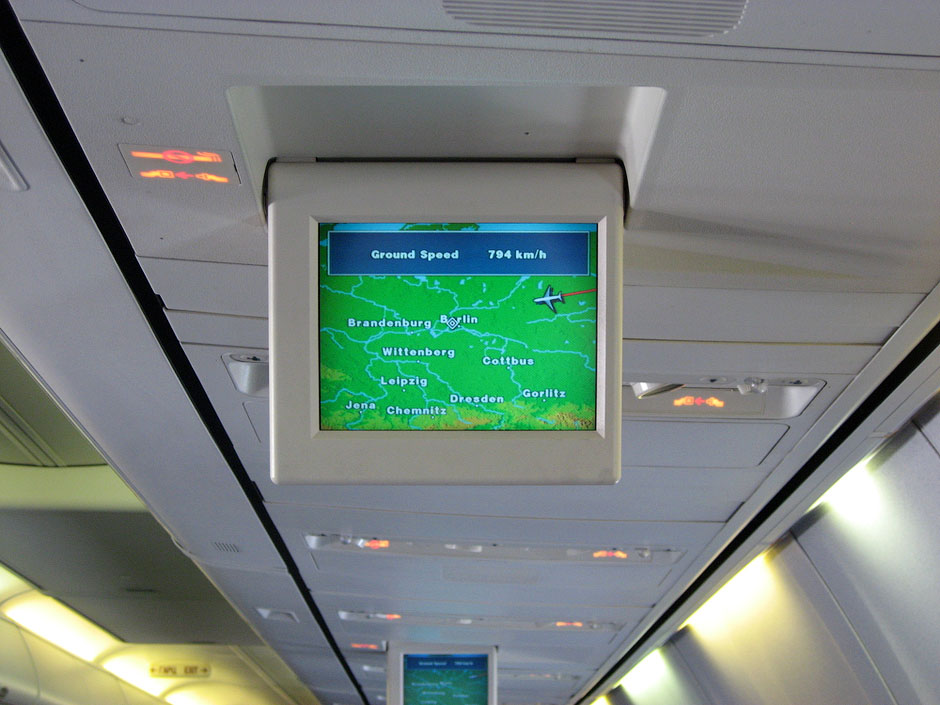 Flight entertainment of Boeing 737-800