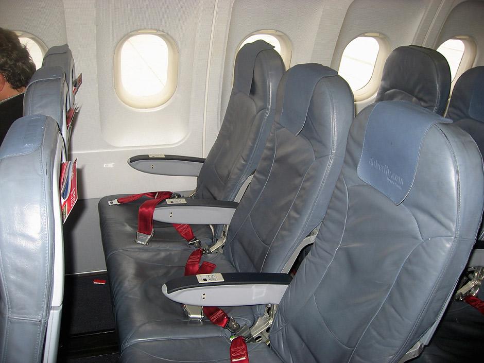 Пассажирские кресла в самолете Airbus A320 авиакомпании Air Berlin