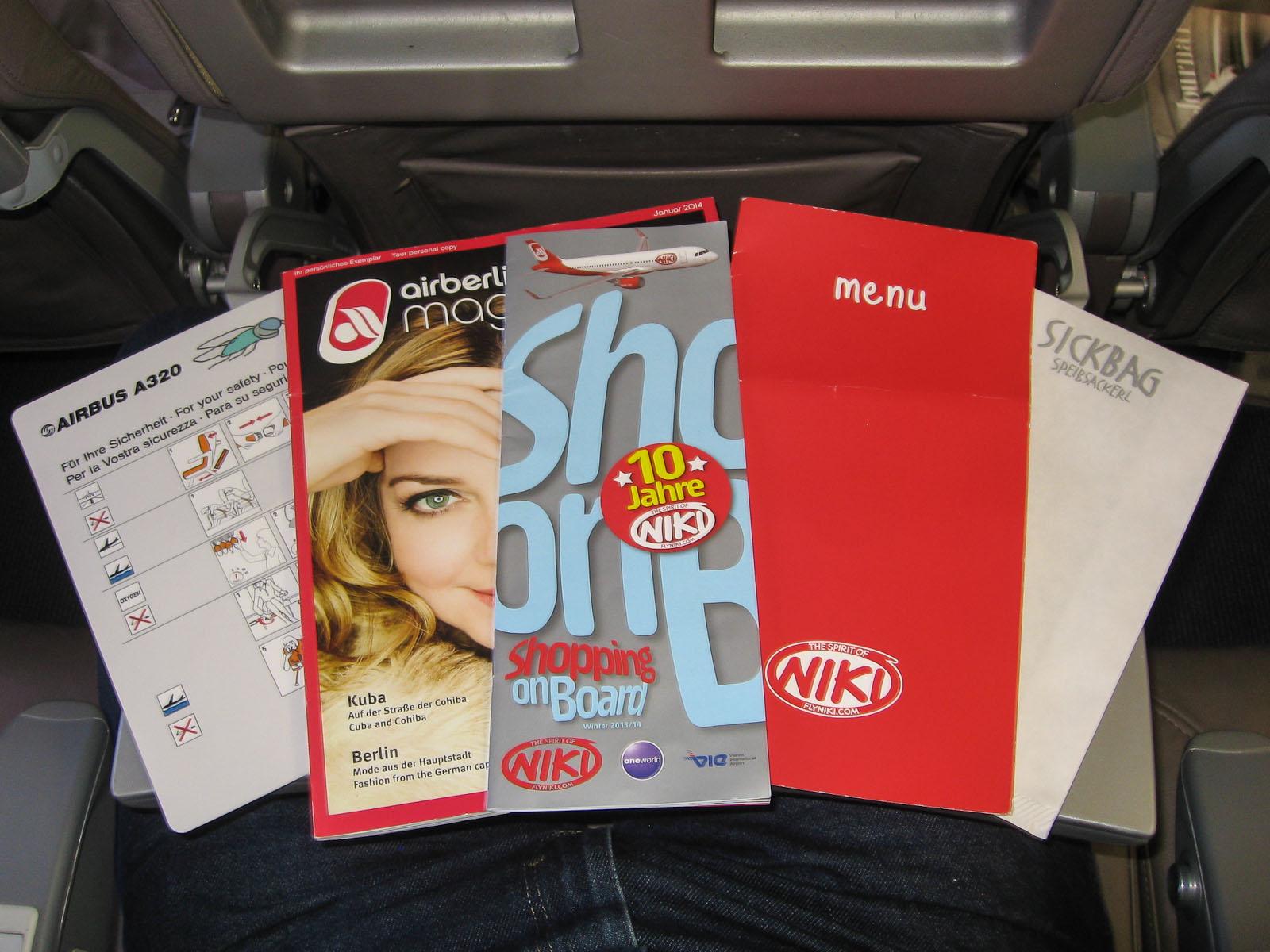 Пресса для пассажиров авиакомпании Ники