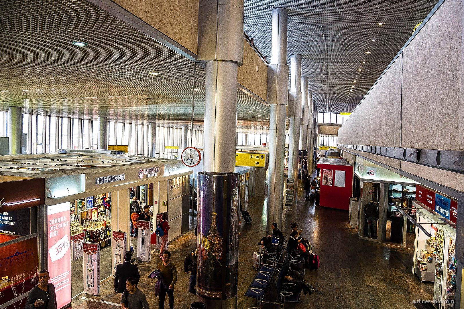 В чистой зоне терминала F аэропорта Шереметьево