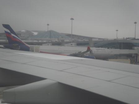 Посадка рейса Аэрофлота из Южно-Сахалинска в аэропорту Шереметьево