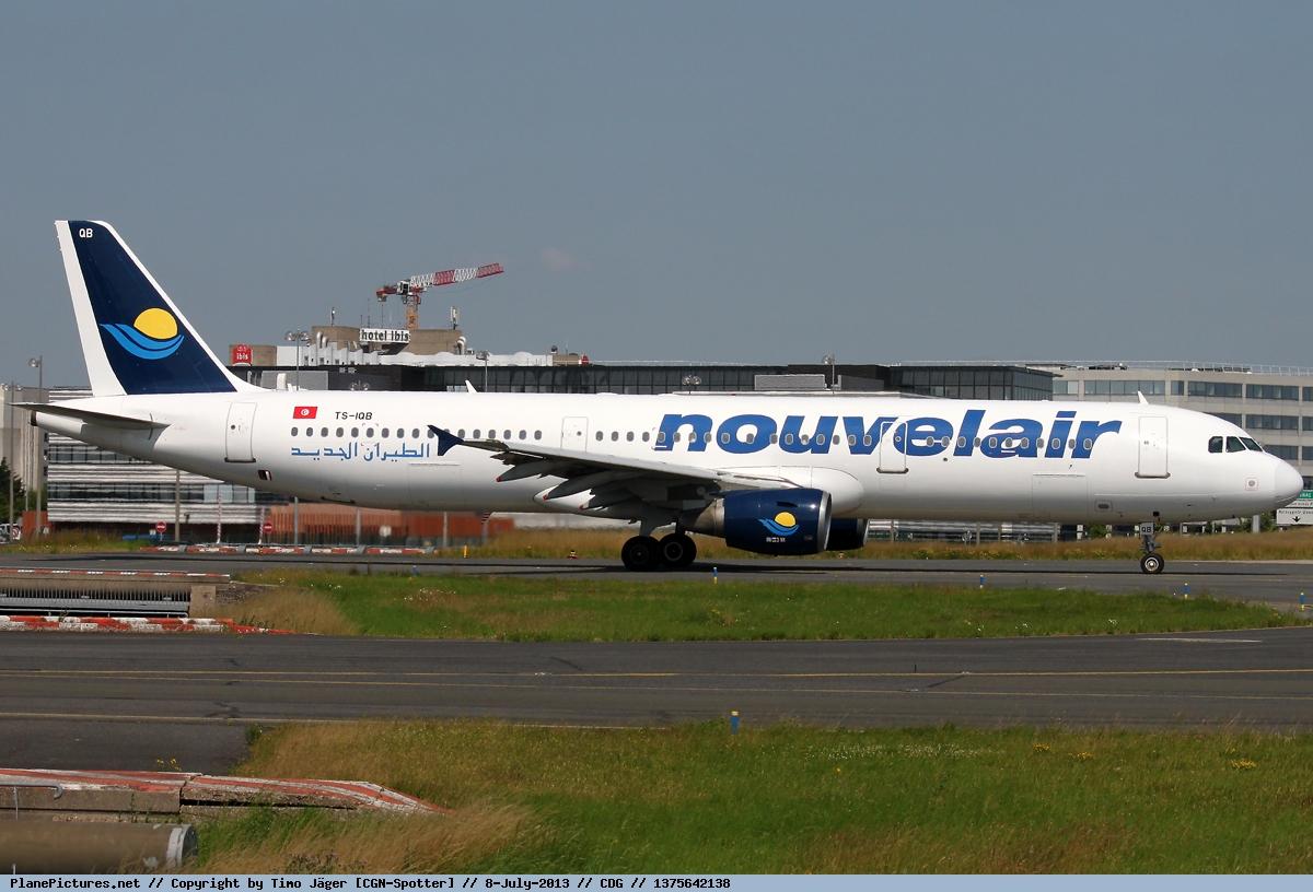 Самолет Airbus A321 авиакомпании Nouvelair