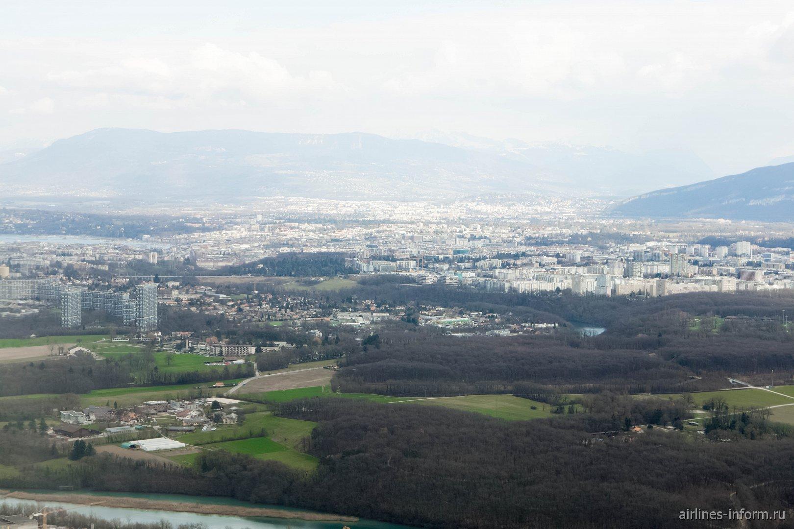 Вид на город Женева