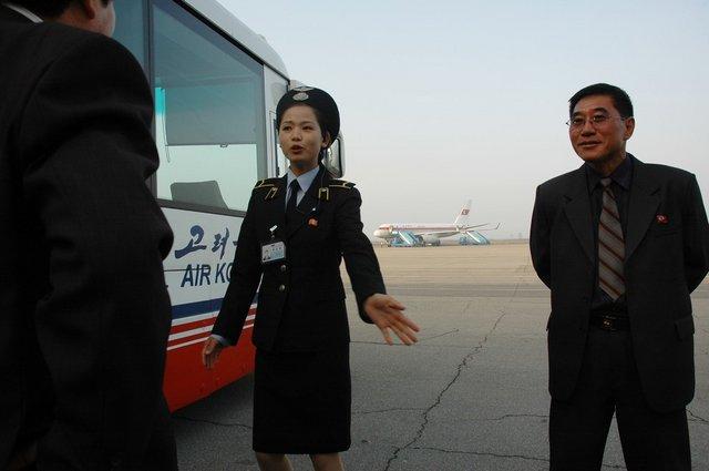 В аэропорту Пхеньяна